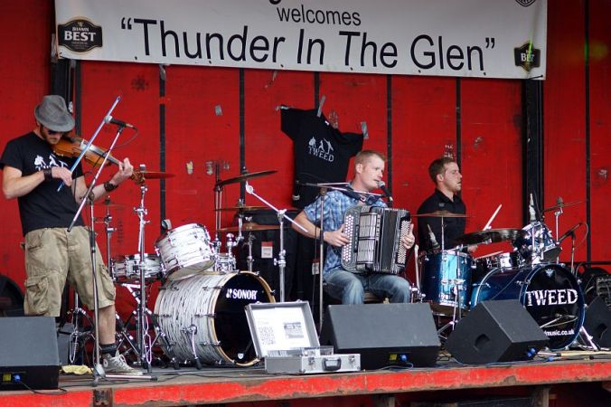 25/08/13 AVIEMORE. Thunder in the Glen, music by Tweed.