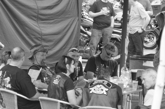 25/08/13 AVIEMORE. Thunder in the Glen. beer time.