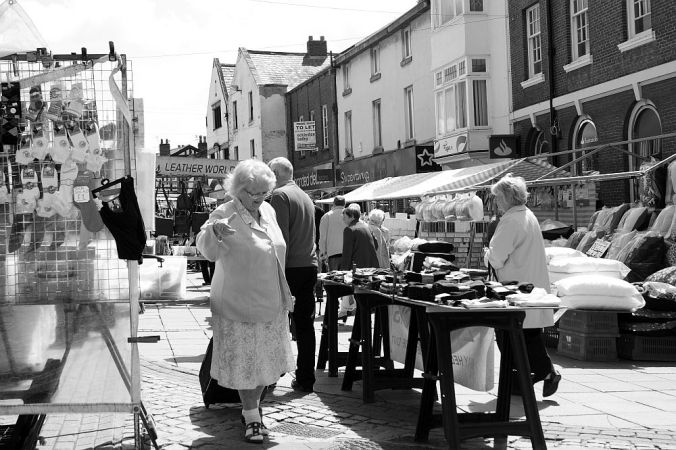 LANCASHIRE, Ormskirk. The Saturday Market.