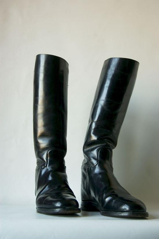 STUDIO. Tall Black Riding Boots.