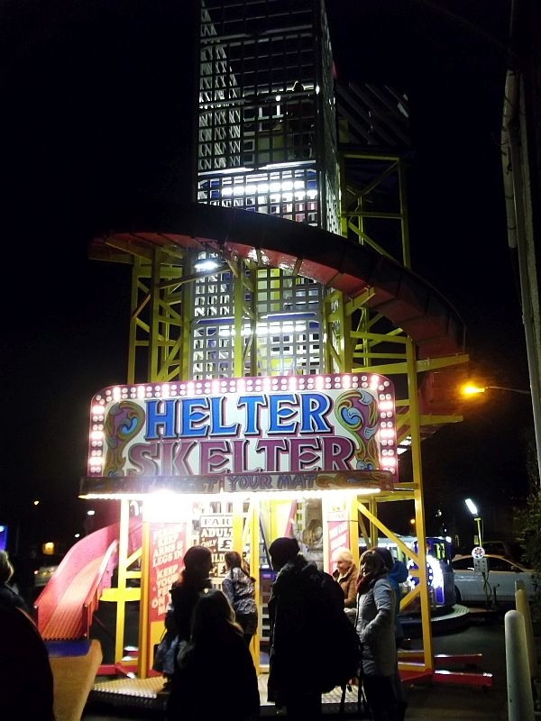 CUMBRIA. Ulverston. The Dickensian Festival. The Helter Skelter.