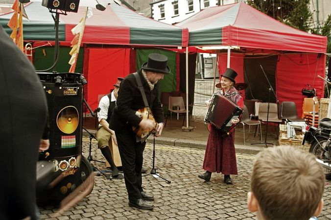 CUMBRIA. Ulverston. The Dickensian Festival 2014.  Music On The