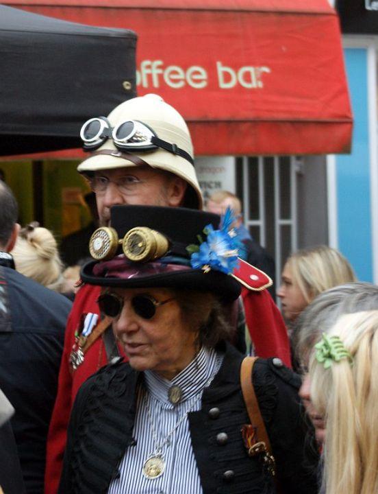 CUMBRIA. Ulverston. The Dickensian Festival 2014. Steampunk.
