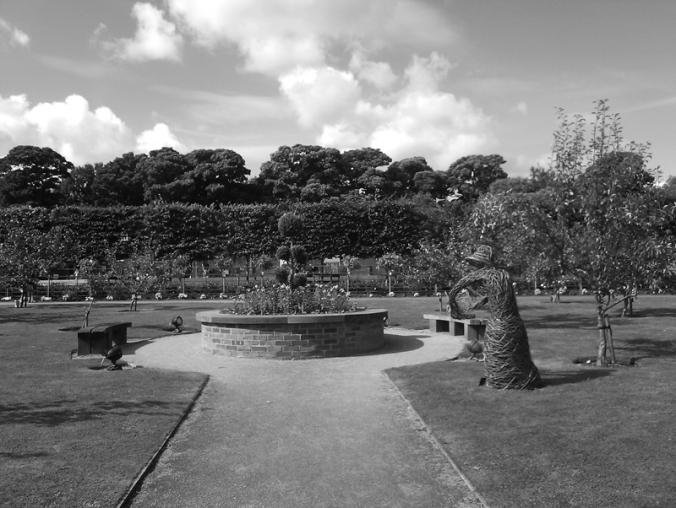 13/09/15 CHORLEY. Astley Hall Walled Garden. Raised Bed.