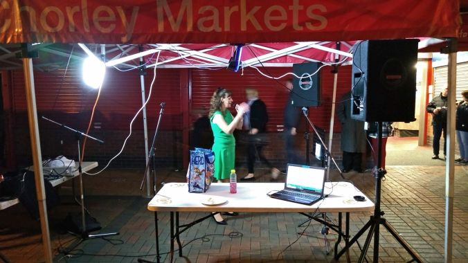 06/10/18 CHORLEY LIVE.  The Covered market. Donna James.