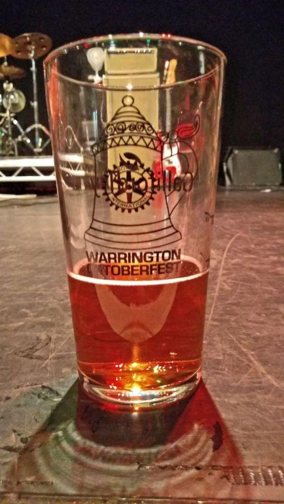 13/10/18. WARRINGTON OKTOBERFEST. A Pint Glass.