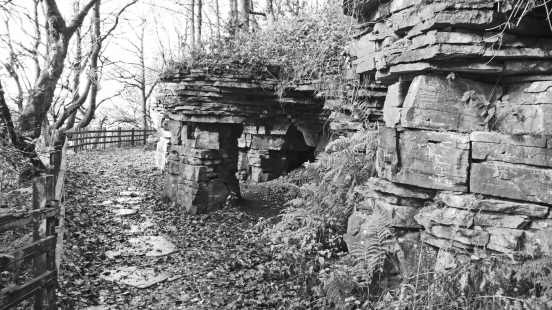 11/11/18 RIVINGTON TERRACED GARDENS.  Caves Above The Dell.