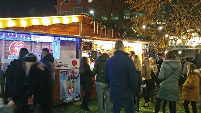 17/11/18  MANCHESTER. Cathedral Gardens. Food In The Evening.