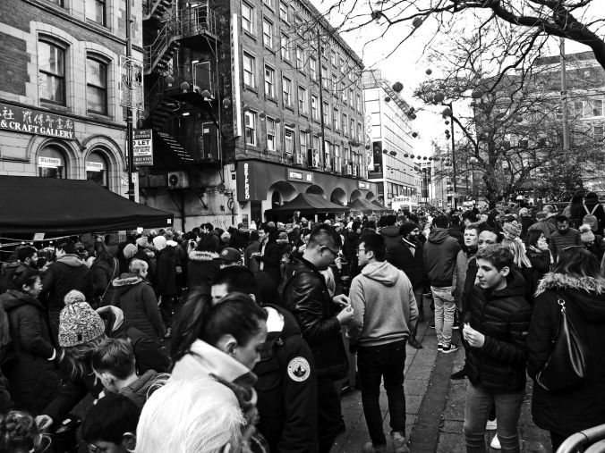 10/02/19  MANCHESTER. Nicholas Street. Crowds.