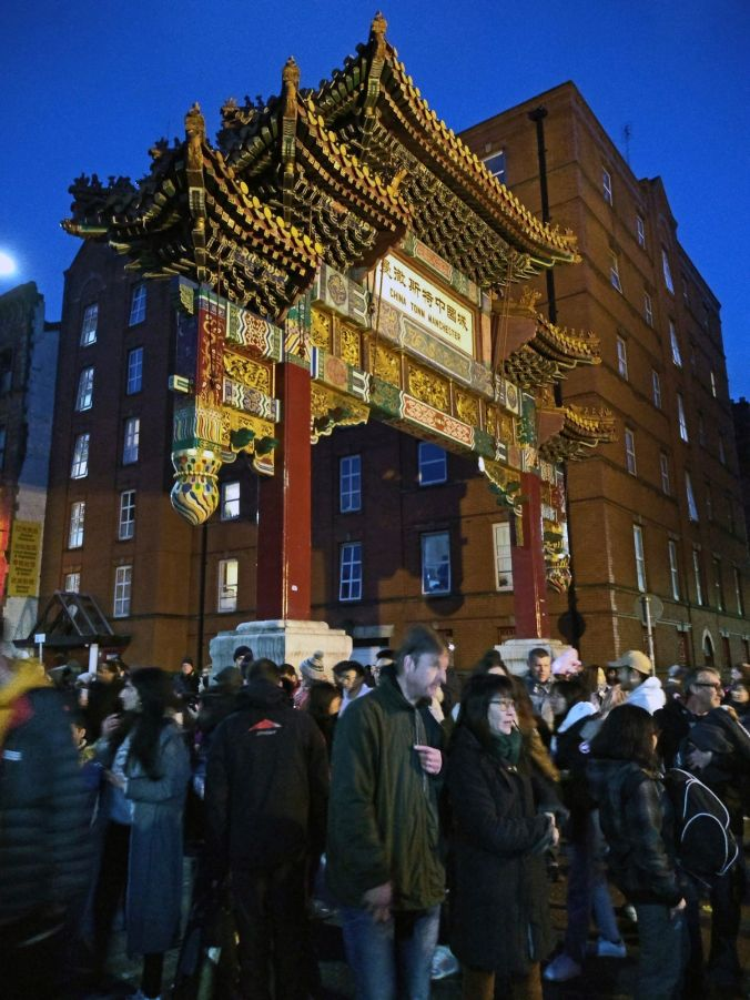 10/02/19  MANCHESTER Nicholas Street The Chinese Arch.