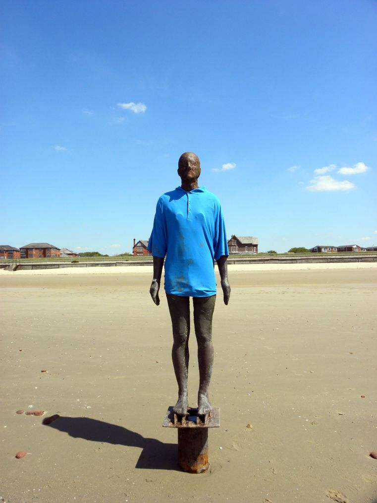 16/05/19  LIVERPOOL.  Crosby Shore. Another Place Blue Shirt.