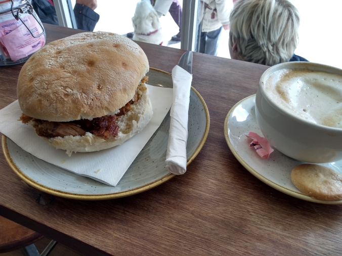 02/05/19  FRODSHAM. The Devonshire Bakery. Pulled Pork Roll.