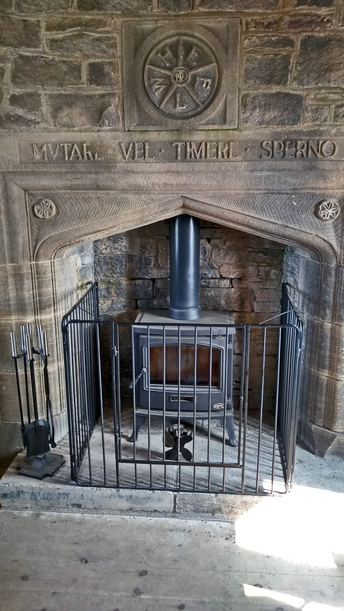 26/-8/19  RIVINGTON. The Pigeon Tower Fireplace.