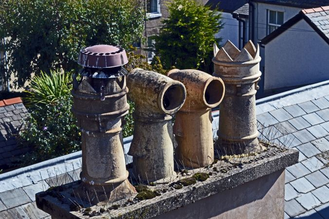 19/09/19  CONWY. Chimney Pots.