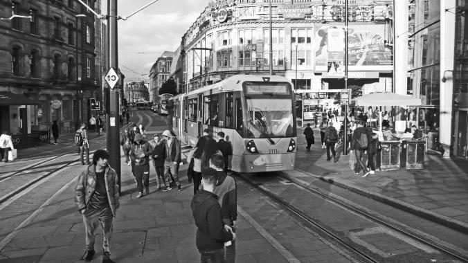 06/10/19  MANCHESTER. Exchange Square, Printworks & Tram.