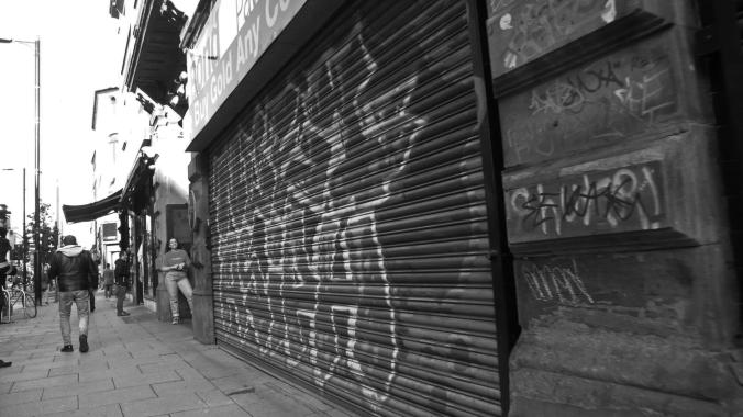06/10/19  MANCHESTER. Oldham STreet. Graffiti.