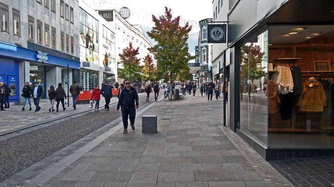 27/10/19.  PRESTON. Fishergate Street.