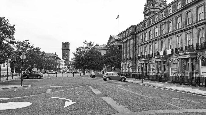 31/10/19 BIRKENHEAD. Hamilton Square. The Town Hall & Railway St