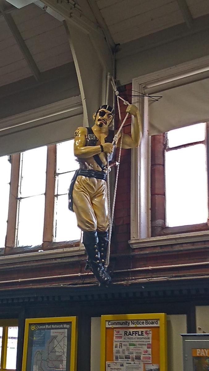 30/11/19 NEW BRIGHTON.  Railway Station Pirate.