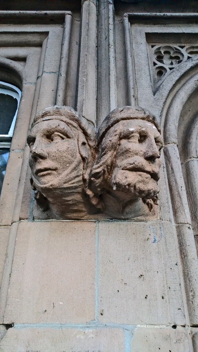 29/09/18  SHREWSBURY. The Station. Carved Heads.