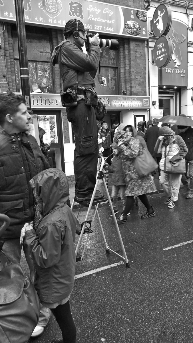 26/01/20  MANCHESTER. Chinese New Year. George Street. Stepladde