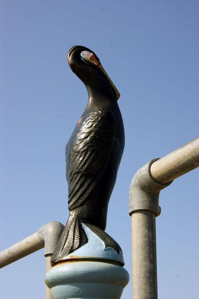 18/07/13 MORECAMBE. Cormorant scuplture .
