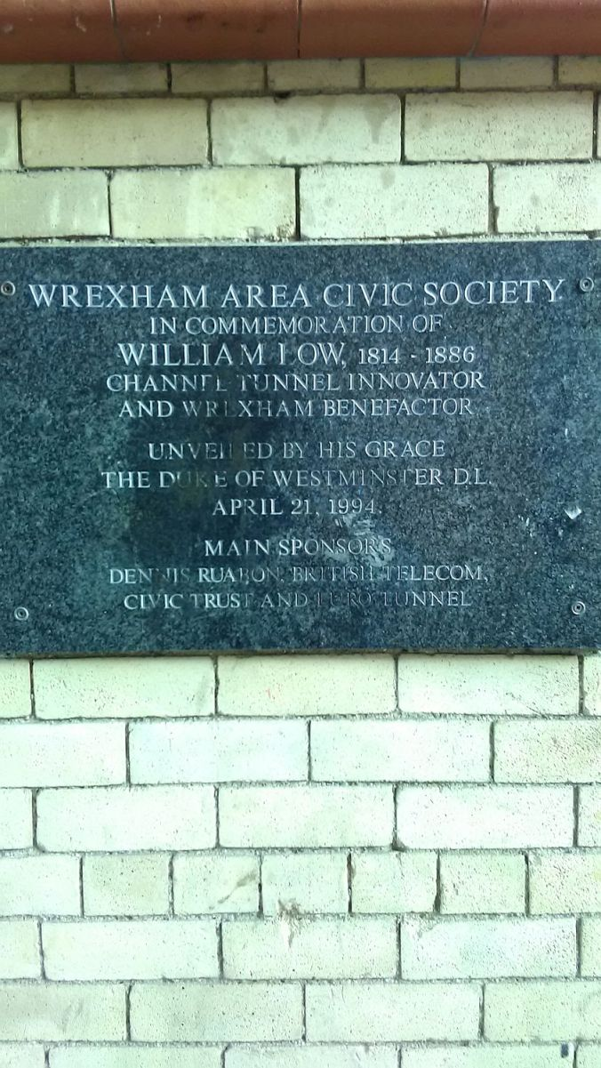 12/12/19 WREXHAM. Argyle Street Plaque.