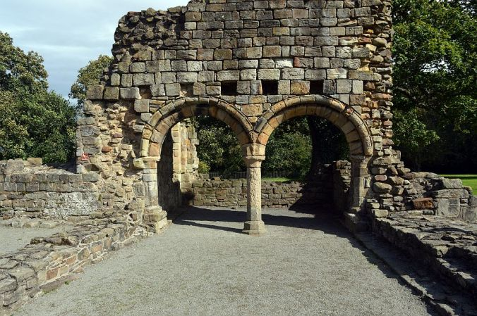 12/09/19  HOLYWELL. Basingwerk Abbey. Double Arch.