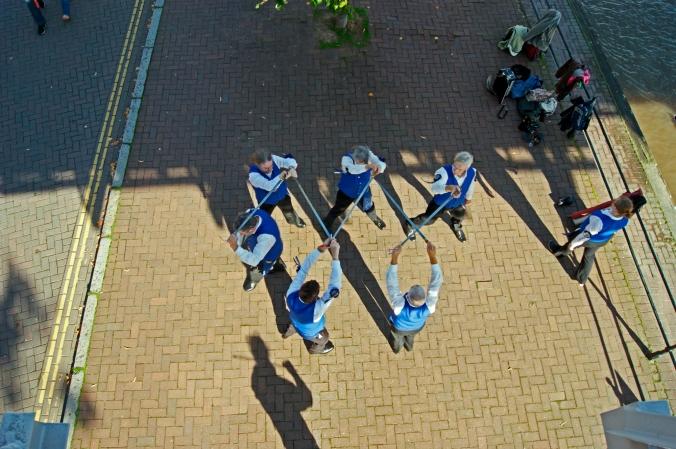 21/09/13 CHESTER. Morris Dancers on The Groves