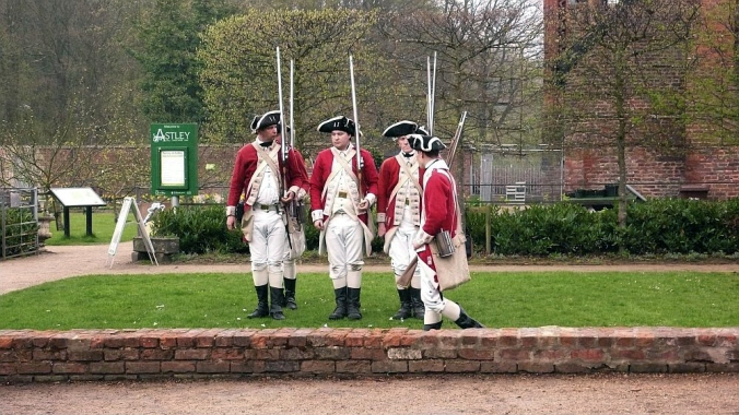 22-04-18  ASTLEY HALL. Inspecting The Troops.