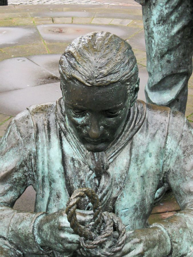 12-03-09  WHITEHAVEN. Marketplace. Two Salors Sculpture. Seated