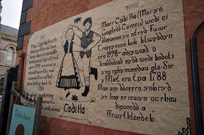 12/09/19  HOLYWELL. High Street. Morris Dancing Mural.B
